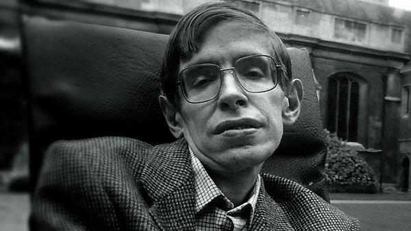 """A still from the documentary """"Hawking."""""""