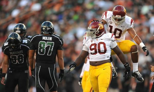 USC defensive tackle George Uko has been a standout on defense for the Trojans this season.