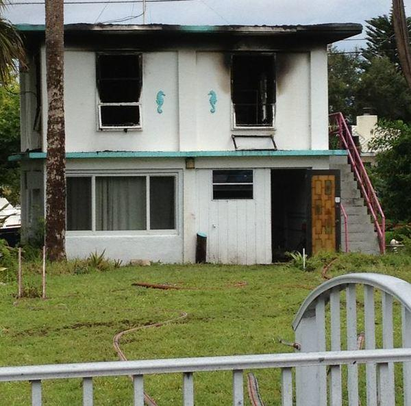Flames damaged a two story Fort Lauderdale home but no one was injured