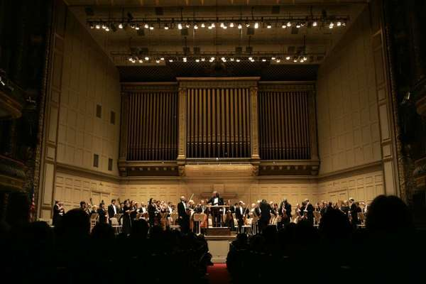 """A 2005 photo of Boston Symphony Hall. The Boston Symphony claims it's """"the world's largest orchestral operation,"""" but that's debatable given the growth of the Los Angeles Philharmonic."""