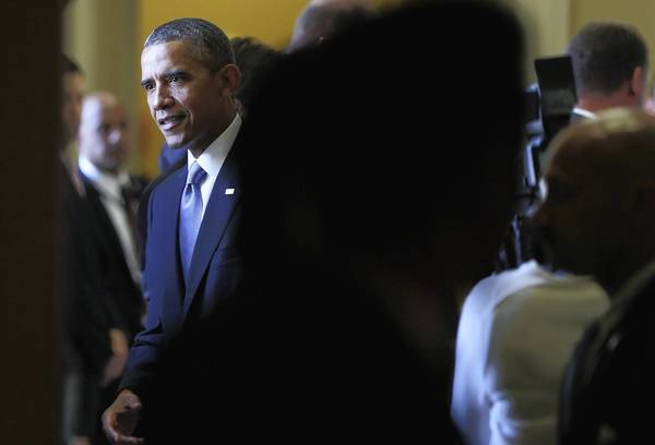 President Obama after a meeting with senators this week.