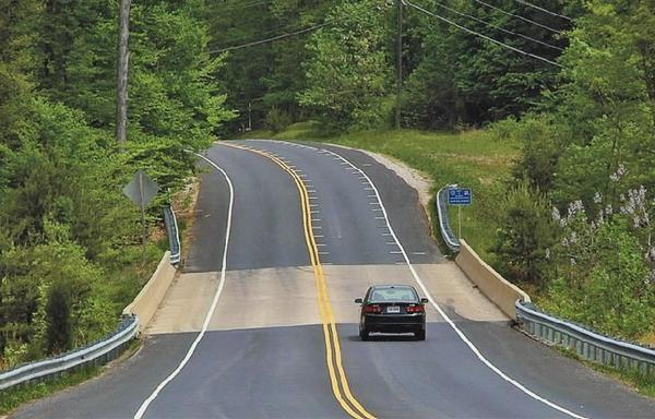 Road engineers, including in Virginia (shown here)and Kansas have tried the stripes.