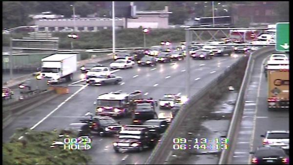The Hartford morning commute was impacted by a multi car crash on I-84.