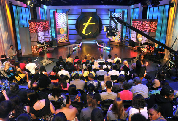"""The Stamford Media Center studio with the set of """"Trisha"""" at NBCU's production facility for the Jerry Springer, Maury Povich, Steve Wilkos and Trisha Goddard's show. NBCU has now been in Stamford for five years."""