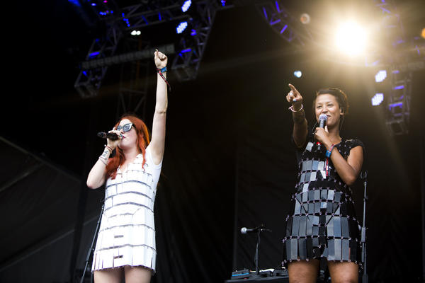 Icona Pop performs at Lollapalooza in Chicago's Grant Park.