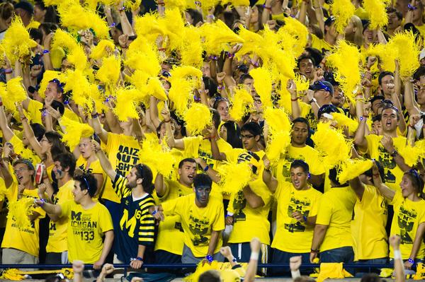 Michigan fans cheer in the second quarter of the game between Michigan and Notre Dame last Saturday.