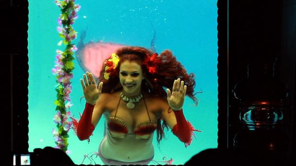 "One of the dancers/mermaids at the Mai-Kai Restaurant in Fort Lauderdale which appears in the new WLRN documentary ""Plastic Paradise: A Swingin' Trip Through America's Polynesian Obsession"" which airs 8 p.m. Sept. 18 and again 7 p.m. Sept. 20 and 1 p.m. Sept. 23."