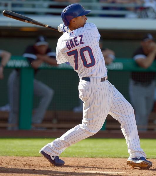 Chicago Cubs shortstop Javier Baez during spring training.
