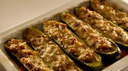 Recipe: Zucchini stuffed with Italian sausage
