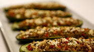 Recipe: Zucchini stuffed with farro, red pepper and feta