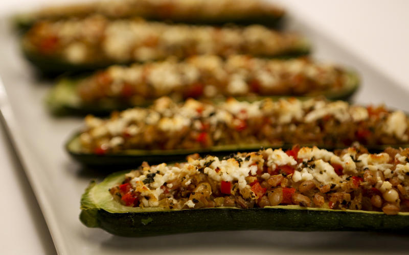 Recipe: Zucchini stuffed with farro, red pepper and feta - California ...
