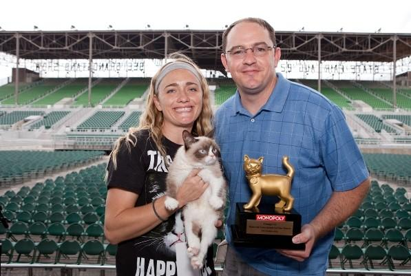 The 2013 Internet Cat Video Film Festival Golden Kitty Winner, Grumpy Cat.