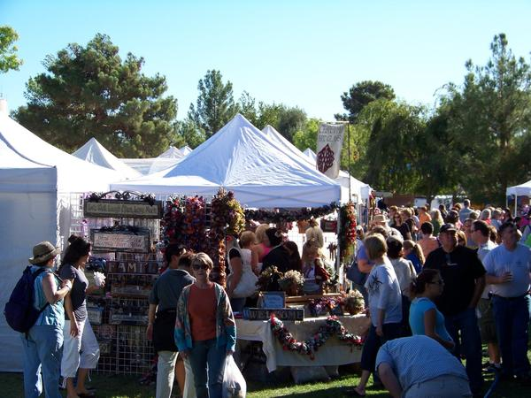 Art in the Park draws roughly 100,000 people to Boulder City, Nev., each October.