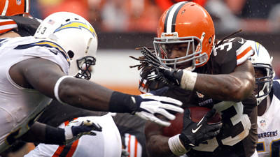 Ravens bracing for Browns running back Trent Richardson