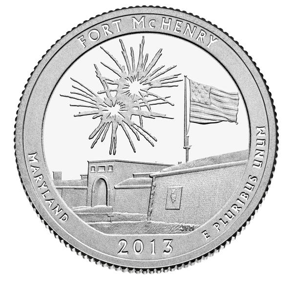 The Fort McHenry quarter//photo supplied by the U.S. Mint