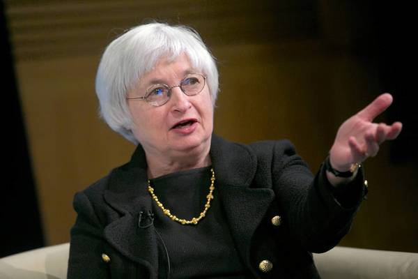 Janet Yellen, vice chair of the Federal Reserve, speaks at a discussion in April.