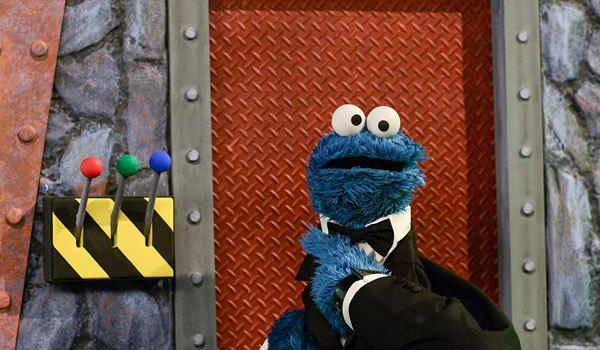 "Cookie Monster in the new season of ""Sesame Street."""