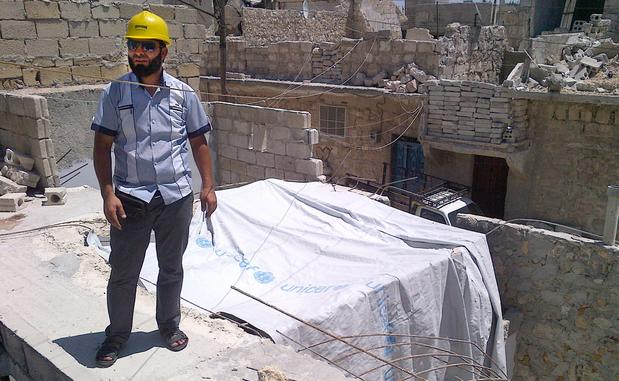 """The person who is rebuilding his house knows that it can be hit the next day with a shell and destroyed again,"" says Abu Ahmad Yassin, an electrician who heads the Islamic Administration for General Services in Aleppo, Syria. ""They are rebuilding with faith in God and hope in the revolution that soon it could be over."""