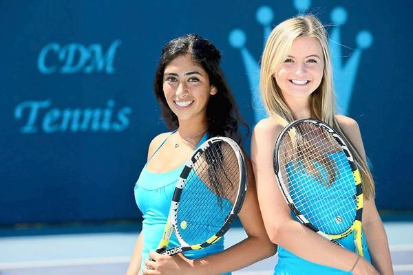 The Corona del Mar High doubles team of Kimmia Naaseh, left, and Kenzie Purcifull are the Daily Pilot High School Athletes of the Week.