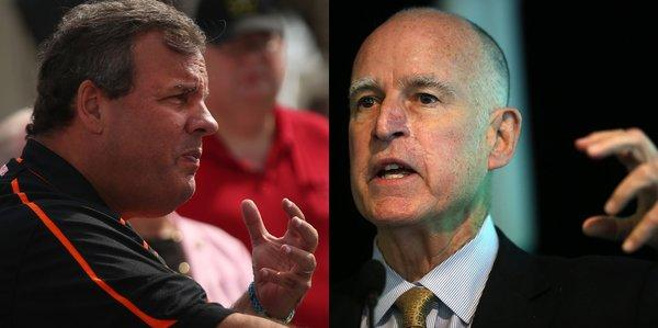 Chris Christie and Jerry Brown