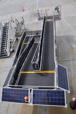 Alaska Airlines, which uses solar-powered passenger ramps, was named the nation's most fuel-efficient major airline by the International Council on Clean Transportation.