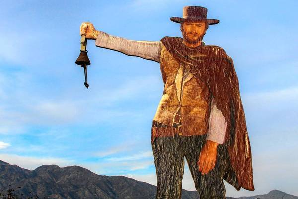 The Clint Eastwood cutout will be placed in the hills near the entrance to the Glendale Sports Complex.