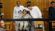 Egypt's Hosni Mubarak is back in court -- but not for long