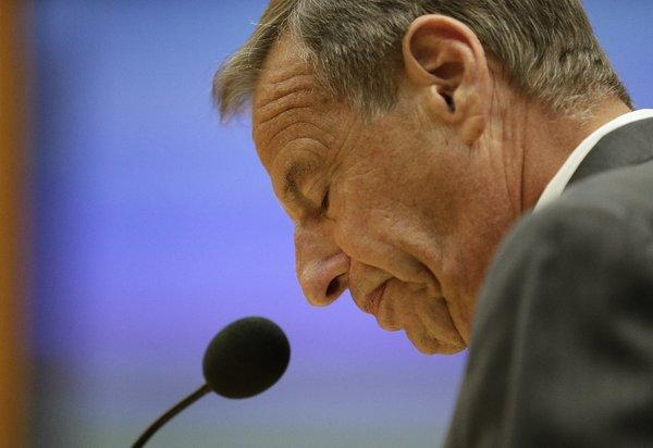 Former San Diego Mayor Bob Filner speaks at City Council meeting in August after agreeing to resign.