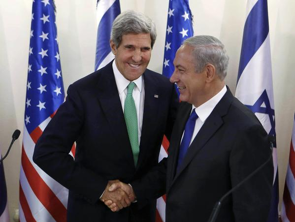 Secretary of State John Kerry meets with Israeli Prime Minister Benjamin Netanyahu in Jerusalem.