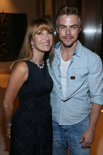 "Jane Seymour and Derek Hough at the American Ballet Theatre's ""Stars Under the Stars"" gala Thursday night."