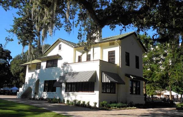 The Mediterranean Revival house at 512 E. Washington Street in Orlando survives from the debate last year over the preservation of the houses dubbed the 'Lake Eola Five.' Built in the 1920s by George Marsh, it's now part of Lake Eola Park and houses offices for the park.