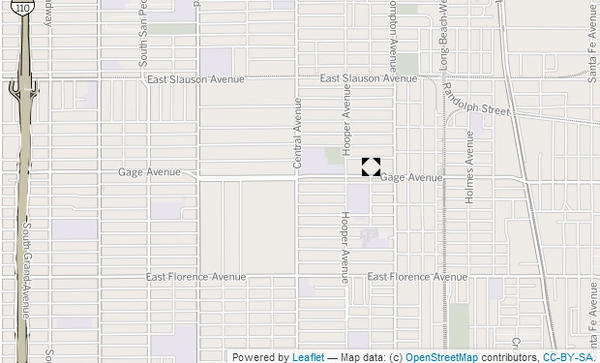 Approximate location where a suspect was injured in a deputy-involved shooting Saturday night.