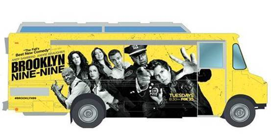 "The ""Brooklyn Nine-Nine"" food truck will be distributing free coffee and donuts in downtown Chicago."
