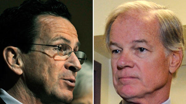 Will Gov. Dannel P. Malloy, left, and Tom Foley square off again for governor? Foley says he hasn't decided, but he's already on the attack.