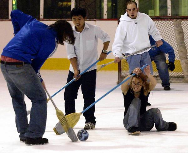 Broomball is still a mystery to some. But those who have discovererd the sport enjoy it.