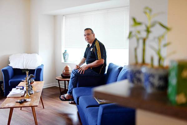 "Ramiro Garza has this apartment in Myers Place in Mount Prospect. Garza, who has cerebral palsy, likes that the complex feels like ""a safe, secure place."""