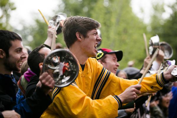 Peelander Z performs at Riot Fest held in Humboldt Park on September 13-15, 2013. (Hilary Higgins/RedEye)
