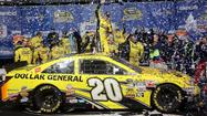 Kenseth wins rain-delayed Geico 400