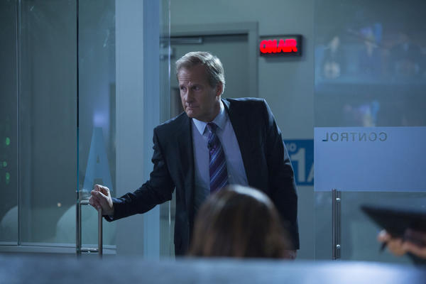 "Will McAvoy (played by Jeff Daniels) in the Season 2 finale of ""The Newsroom."""