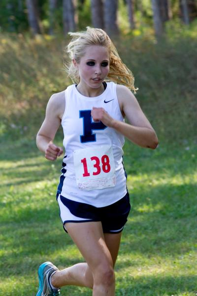 Petoskey's Morgan Block finished runner-up Saturday to teammate Lily Cesario in helping the Northmen win the Newberry Invitational. Block finished in 20 minutes, 39 seconds, while Cesario won the girls race in 20:20