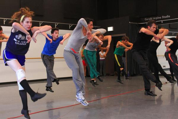 """Joffrey Ballet dancers rehearse in the studio for their """"Episode 31"""" performance during the Chicago Dancing Festival."""