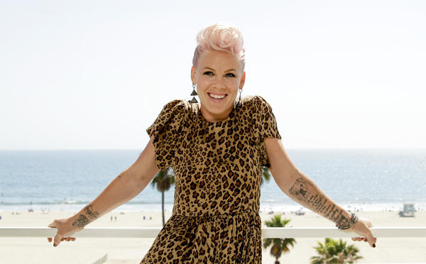 Singer, songwriter and actress Pink.