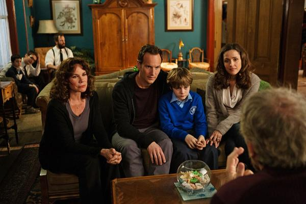 """Barbara Hershey, from left, Patrick Wilson, Ty Simpkins and Rose Byrne in the movie, """"Insidious: Chapter 2."""""""