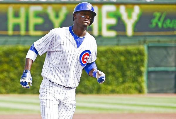 Chicago Cubs outfielder Junior Lake.
