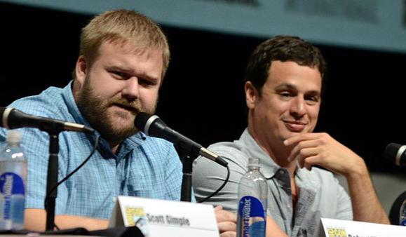 'Walking Dead' executive producers Robert Kirkman, left, and David Alpert.