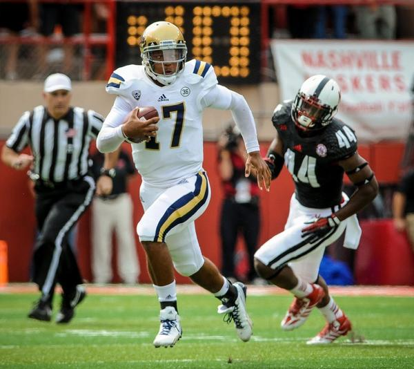 """The team leadership, including myself, will remind young guys that everyone at this level is a big-time player, even if their record might not show it,"" UCLA quarterback Brett Hundley says of this week's game against New Mexico State."