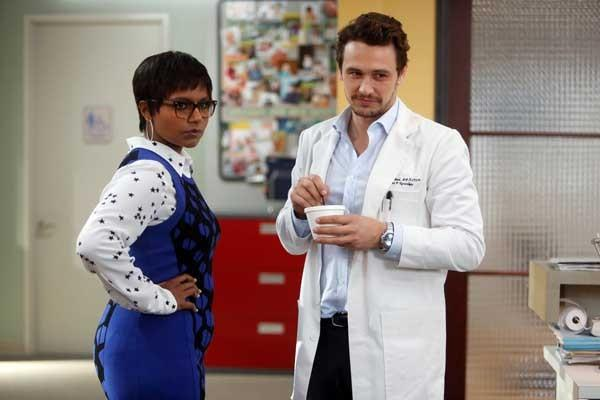 "James Franco needs some help on ""The Mindy Project"" on Fox. With Mindy Kaling."
