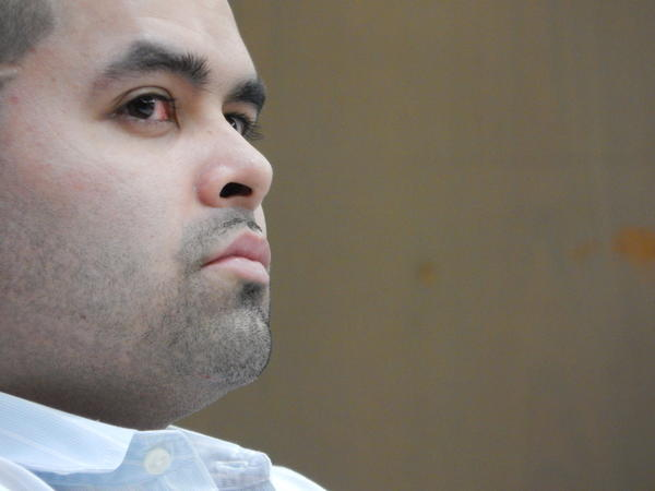 Gerard Lopes Belmonte listens to closing arguments in his murder trial Monday, Sept. 16, 2013. Lopes is accused of killing his adoptive mother, Natalie Belmonte, after raping her on July 17, 2011.