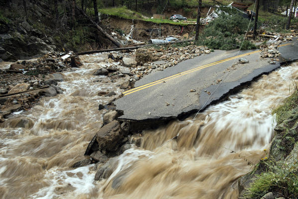Flood damage in Boulder, Colo.