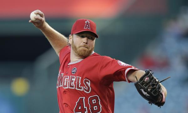 Tommy Hanson is back with the Angels after a stint with the team's triple-A affiliate in Salt Lake City.